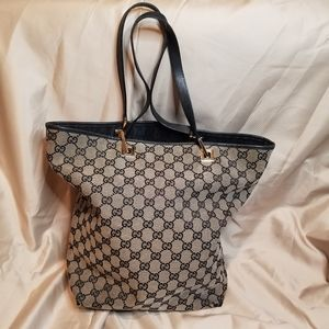Gucci Authentic Vintage Monogram Canvas Tote
